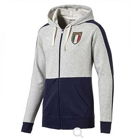 2017-2018 Italy Puma Azzurri Zipthrough Hoody (Grey) - Kids d1a555406f34a