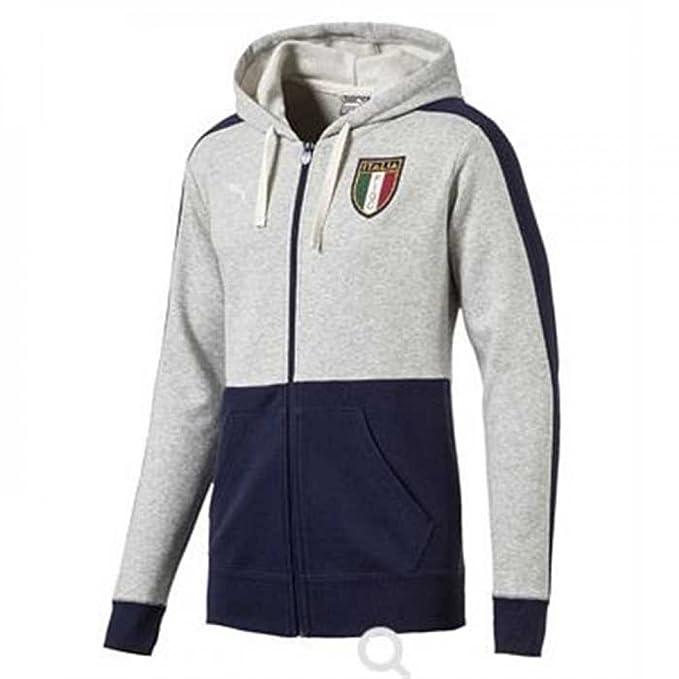 2017-2018 Italy Puma Azzurri Zipthrough Hoody (Grey) - Kids ...