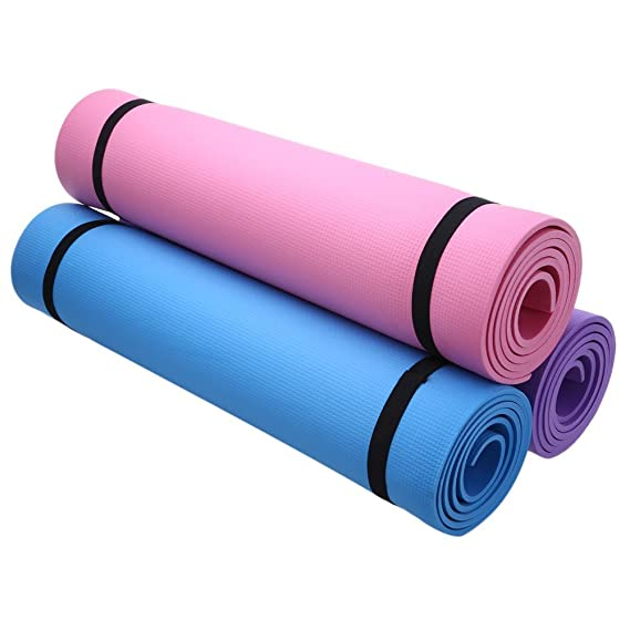 Amazon.com: (púrpura) Utilidad 3 colores 6 mm EVA Yoga ...