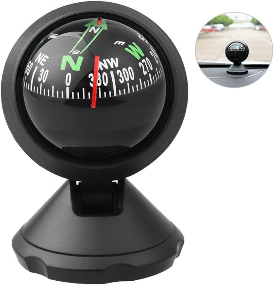 VGEBY Sea Marine Compass Pivoting Car Boat Navigation Explorer Mount Compass with Bottom Stick