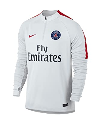 Nike PSG Y Dril Top SQD - Camiseta de Manga Larga Paris Saint Germain para Hombre