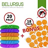 Belursus Mosquito Repellent Bracelets 20 Pack / Insect Protection up to 300 ...