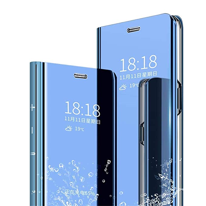 Funda Galaxy S9 Plus Espejo Carcasa Clear View Standing Flip ...