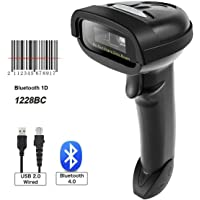 HWZDQLK Bluetooth CCD Barcode Scanner Wireless Barcode Reader Handheld USB 1D Bar Code Imager for Mobile Payment Computer Screen Scan for POS Android iOS iMac Ipad System