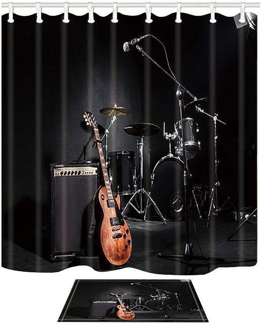 vrupi Serie música Cortina Ducha Concierto Rock Instrumento ...