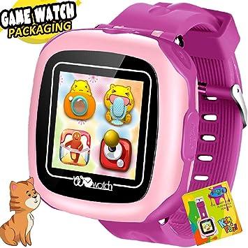Niños Juego Smartwatch Reloj Inteligente para niñas niños con podómetro Pantalla táctil de 1.5 Cámara Reloj Despertador Pulsera Juguetes ...