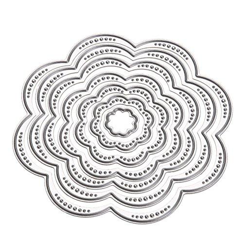 切削ステンシル スクラップブック カード作り道具 ダイカットテンプレート 切り抜き紙が作れる型 花柄 7枚セット 手作り DIY 紙飾り用具