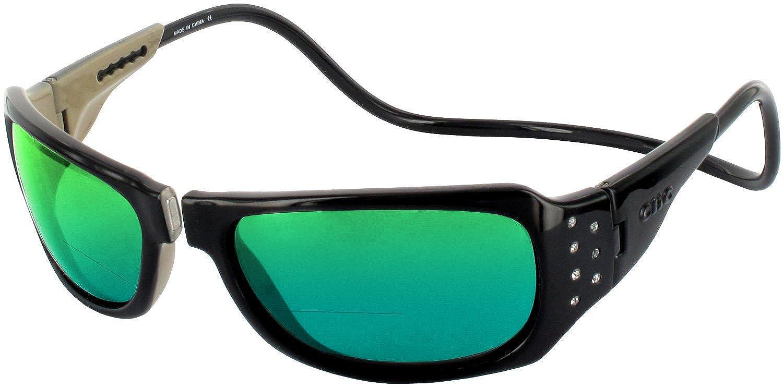格安販売の Clic Monarch偏光bi-focal x Readingサングラス B07521LSKY Black-crystals W Lens|2.25/ Green Clic Mirror Lens Black-crystals W/ Green Mirror Lens|2.25 x, 開店記念セール!:e46c31dc --- arianechie.dominiotemporario.com