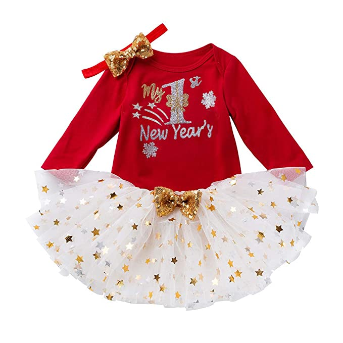 BBSMLIN Disfraces De Navidad Bebes Niña My First Christmas Peleles ...