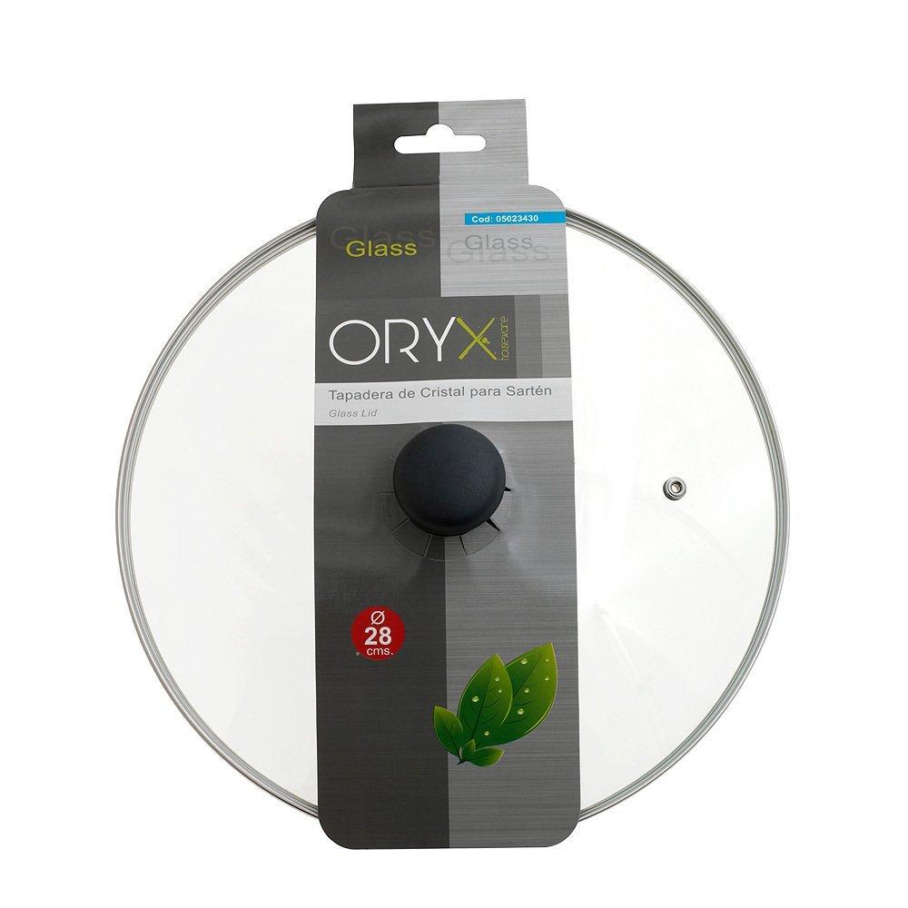 ORYX Tapadera de Cristal para Sartén 28cm, Blanco, 28 cm: Amazon.es: Hogar