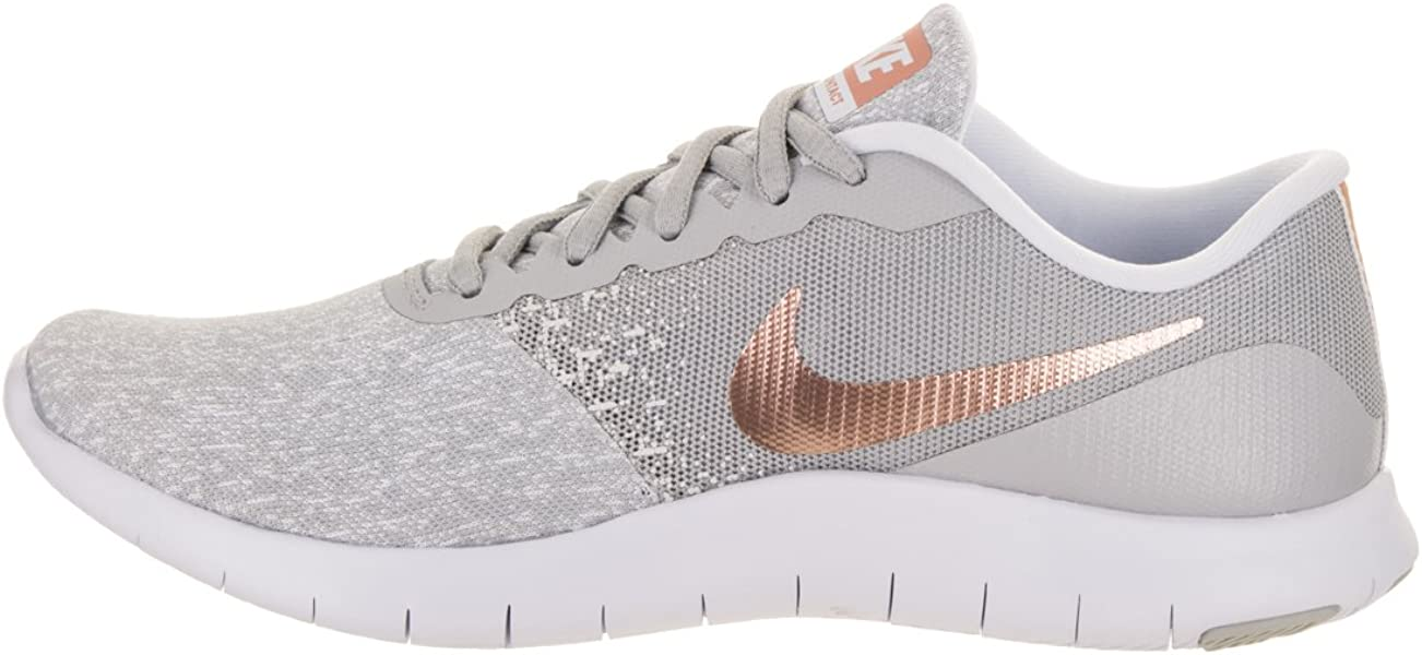 05977204b18 Nike Women Flex Contact Wolf Grey Metallic Rose Gold 7 M Fabric Running  Shoe. Back. Double-tap to zoom