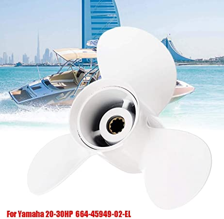 9 7//8 x 13 Boat Ship Alloy Outboard Propeller For Yamaha 20-30HP 664-45949-02-EL