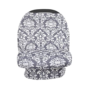 Baby Car Seat Cover Pure Color Nursing Scarf Stretchy Infant Cradle Canopy New