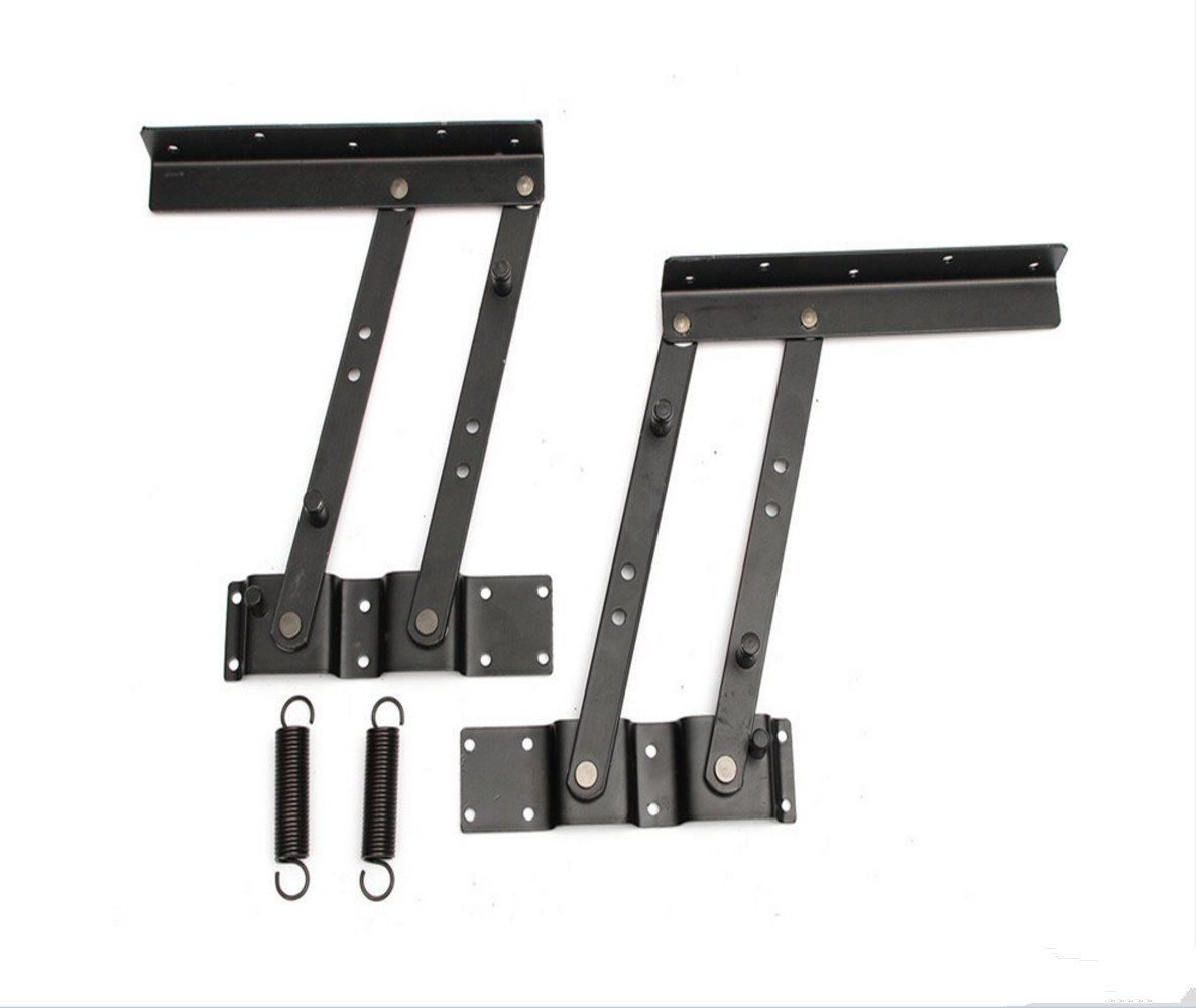 1SET Lift up Modern Coffee Table Mechanism Hardware Fitting Furniture Hinge Spring With Mounting Screws Stand Rack Bracket LevenLi