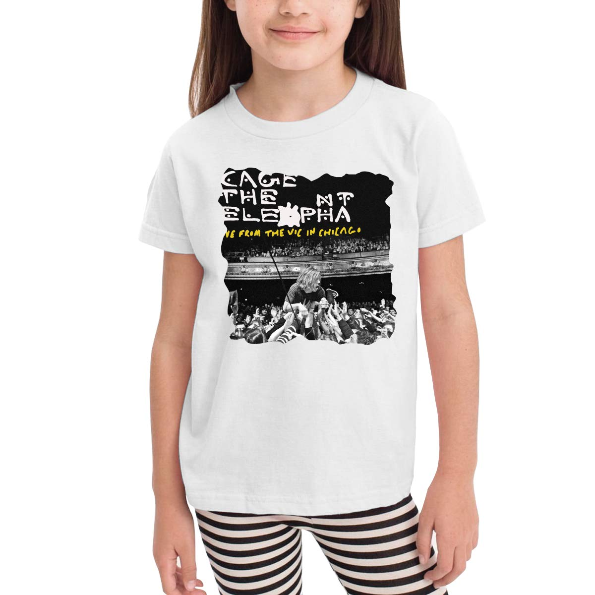 SuperLee Childrens Cage The Elephant Soft Short Sleeve T-Shirt Black