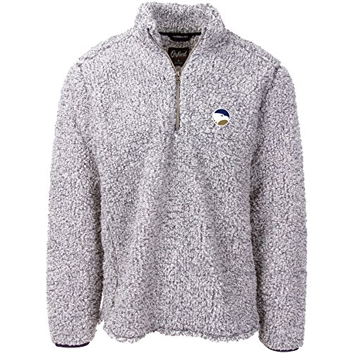 NCAA Georgia Southern Eagles Adult Men Owen 1/4 Zip Heather Sherpa Pullover, Large, Classic Navy