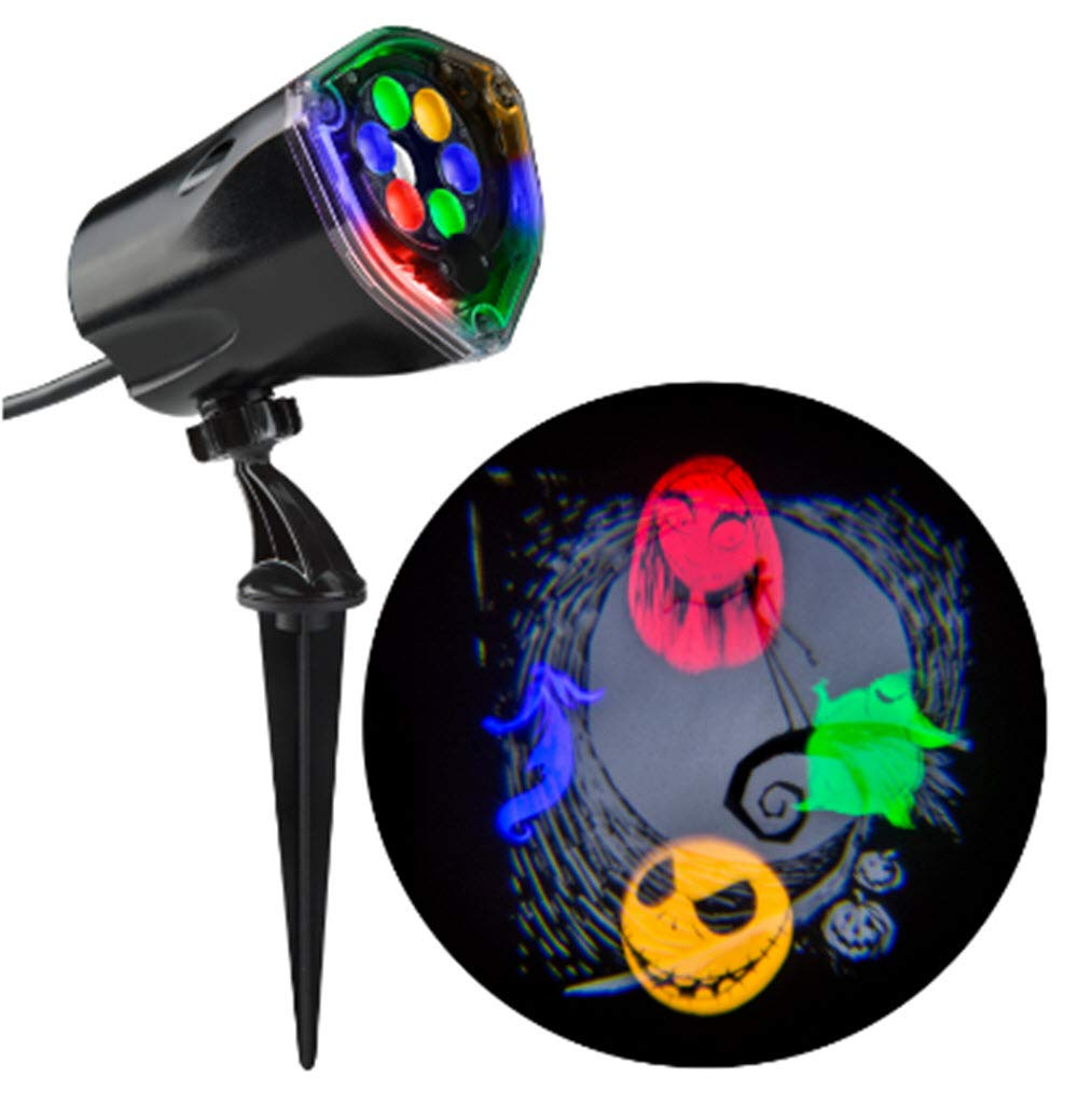Gemmy Lightshow Whirl Motion  Static Nightmare Before Xmas Jack Skellington, Sally, Oogie  Projection Halloween Light Yard Decor by Gemmy LightShow Projection Whirl A Motion