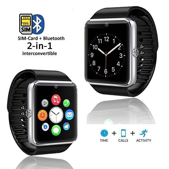 06f2928301c3 Amazon.com  Indigi GT8 (Smart Watch and Phone) GSM + Bluetooth Sync ...