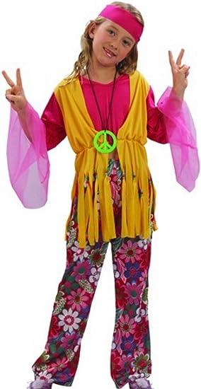 Fyasa 701358-t01 Hippie Niña Disfraz, amarillo/rosa, tamaño ...
