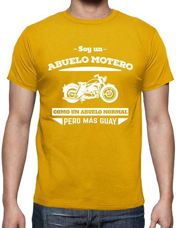 latostadora - Camiseta Abuelo Motero, como un para Hombre: MundoAtleti: Amazon.es: Ropa y accesorios