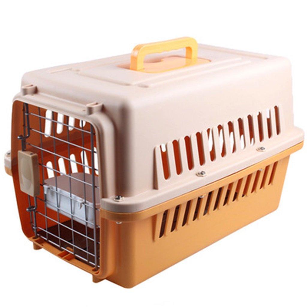B S (58x37x36 cm)XIAOPING Pet Air Box Pet Cage Portable Out Transport Cat Cage Pet bed (color   E, Size   L (81x57x60 cm))