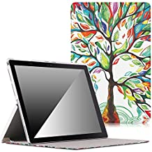 MoKo Microsoft New Surface Pro 2017 Case - Slim Lightweight Smart-shell Stand Cover Case for New Surface Pro 2017 / Surface Pro 4 Tablet, Compatible with Type Cover Keyboard, Lucky TREE