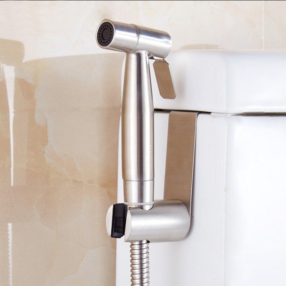 BOEN B650-2 SUS304 Stainless Steel Toilet Hand Held Bidet Shattaf Sprayer, Brushed Finish BOEN HOME INC.