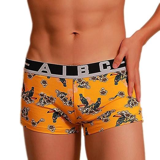 Ropa interior masculina interior de hombre Pantalones de algodón de dibujos animados impresión boxeador calzoncillos,