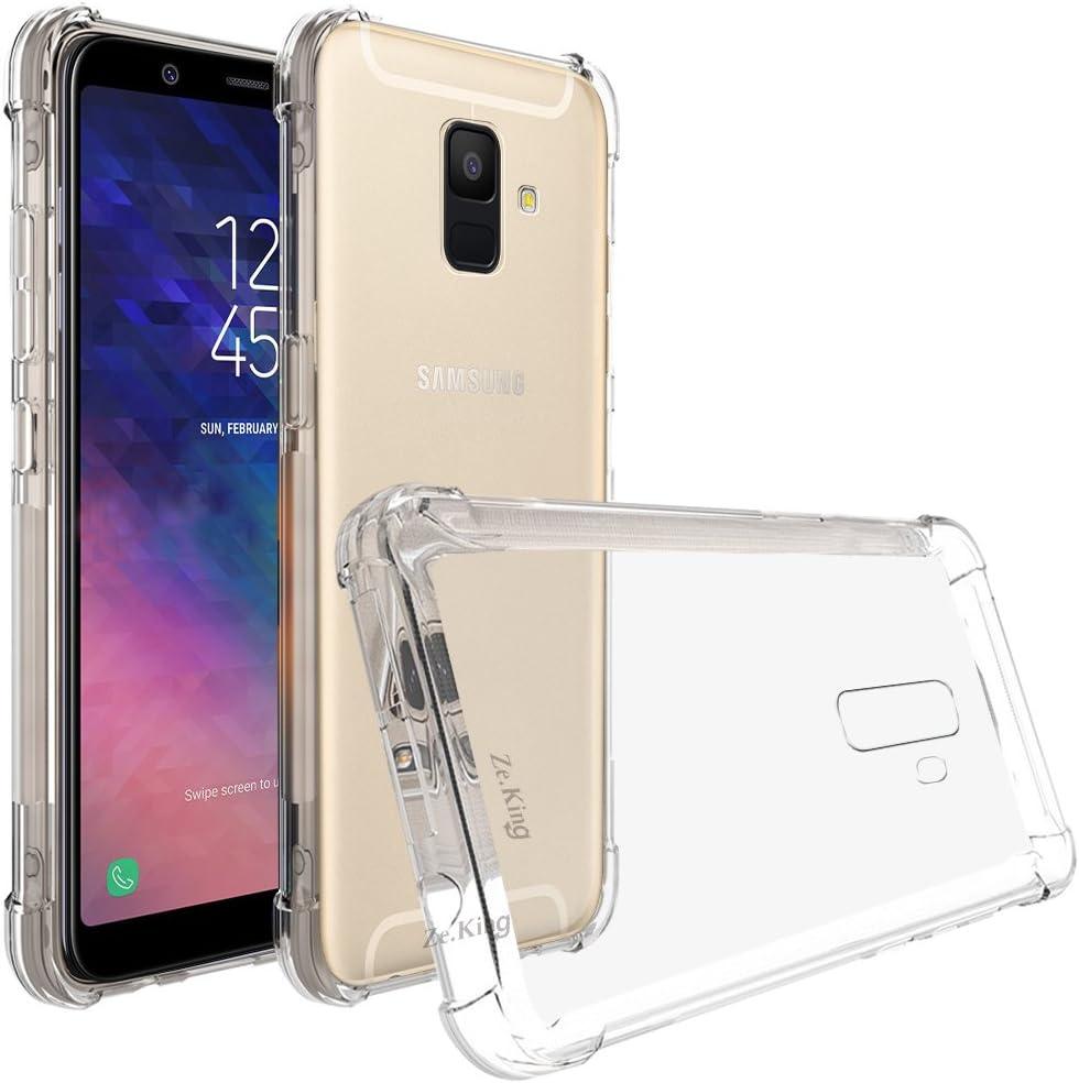 ZeKing Samsung Galaxy A6 2018 Case, Crystal Clear Anti-Scratch TPU Rubber Soft Skin Silicone Premium Protective Case Cover for Samsung Galaxy A6 (2018) (Transparent)