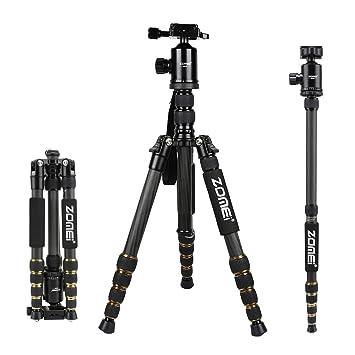 Trípode Cámara ZOMEi Z669C Concept Trípode Fibra de Carbono con Ligero Monopie y Bolsa y Rótula de Bola 360 Grados para Cámara Digital Canon Sony ...