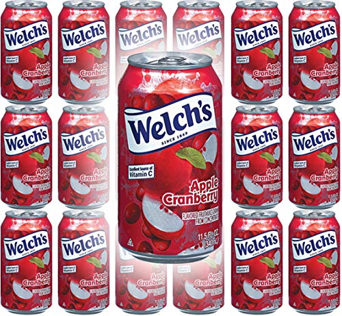- Welch's Apple Cranberry, 11.5 Oz (Pack of 18, Total of 207 Oz)