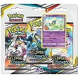 Triple Pack Pokémon Celebi Sol e Lua 12 Eclipse Cósmico