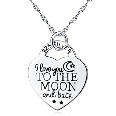 Amazon Com 925 Sterling Silver I Love You To The Moon And Back