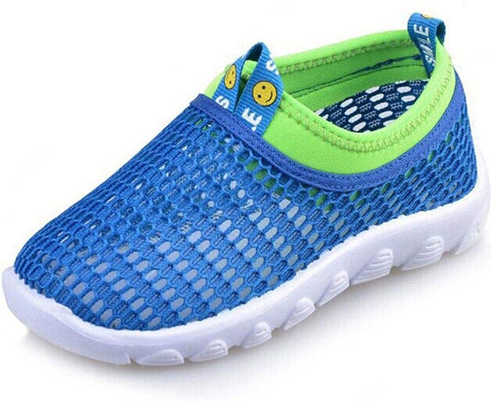 Baskets Mode Enfants Chaussures Combinaison de Deux Couleurs avec Visage Souriant Elyseeseny 2019 /Ét/é Mode Mesh Running Sneakers pour B/éb/é Gar/çon Fille Pas Cher