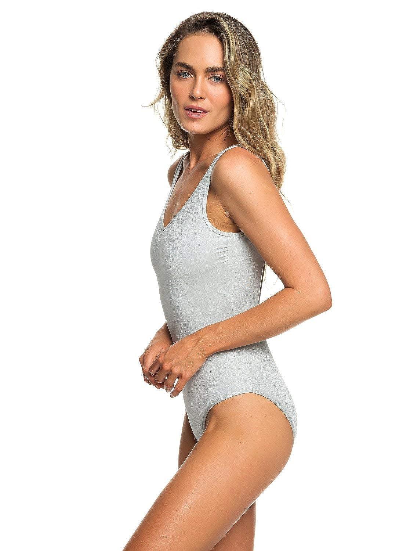 6d1fe8db53261 Amazon.com: Roxy Womens H and K - High Leg One-Piece Swimsuit - Women - M - Grey  Highrise M: Clothing