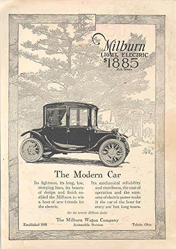 1917 Milburn Electric Car Ad WWI Anti-Aircraft Gun