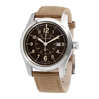 ad57580e8 Image Unavailable. Image not available for. Color: Hamilton Khaki Field  Automatic Brown Dial Men's Watch H70605993