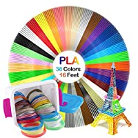 NanHong roll outThe New 3D Pen Filament Refills Storage box Kit 6 Glow in the Dark Colors 1.75mm pla.36 Colors/16 Feet Each Colors Kit,590 Linear Feet Total of