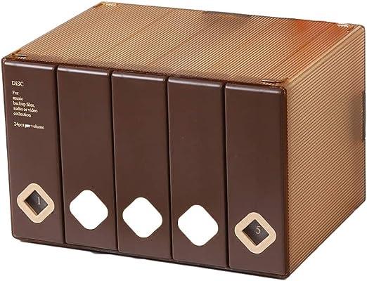 GWXJZ Estanterías para CD DVD Caja de Almacenamiento de CD Soporte ...