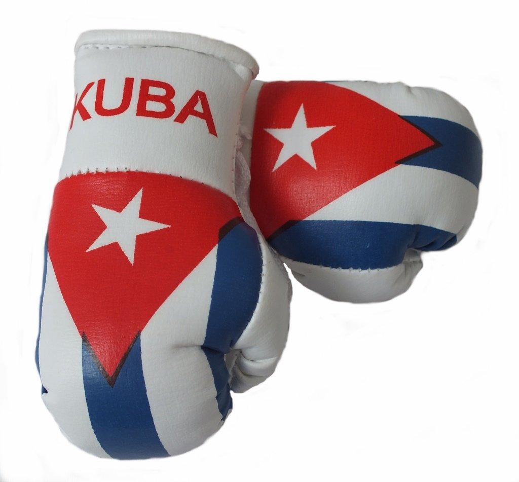 Mini Boxhandschuhe KUBA/CUBA, 1 Paar (2 Stü ck) Miniboxhandschuhe z. B. fü r Auto-Innenspiegel Sportfanshop24