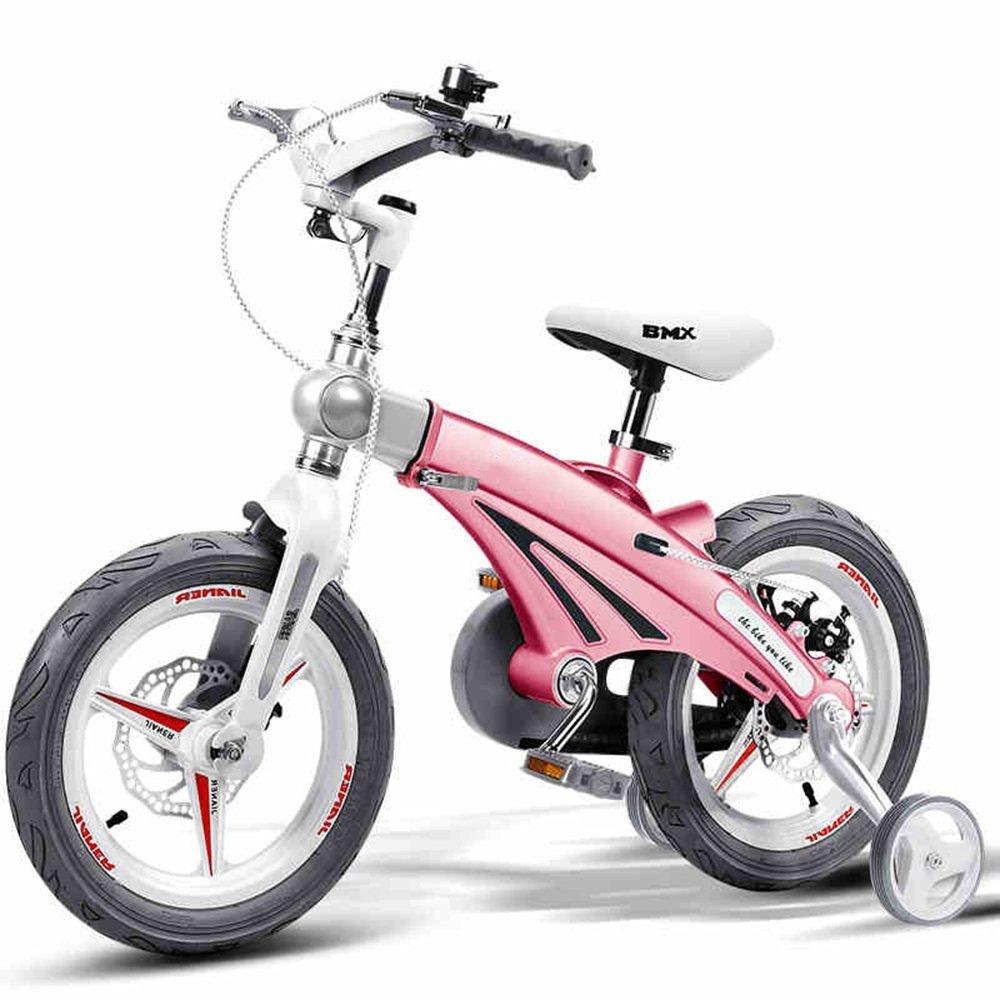 HAIZHEN マウンテンバイク 伸縮自在の子供用自転車ベビーカー12/14/16インチ子供用自転車サイクリングマウンテンバイク伸縮式フレーム折りたたみ式ハンドルバーシート/ハンドルの高さ調節可能 新生児 B07C3QWZRC 12 inch ピンク ぴんく ピンク ぴんく 12 inch