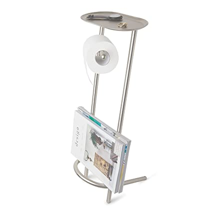Umbra Valetto Free Standing Toilet Paper Holder And Magazine