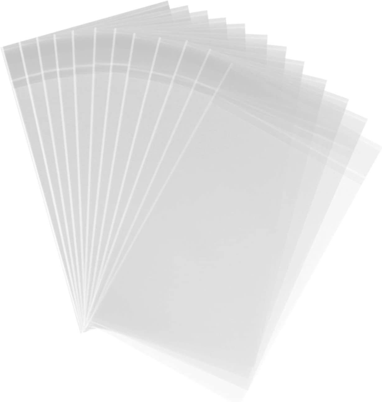 1000ct Clear Plastic Cello Cellophane Bags Self Sealing in Bulk for Bakery Cookies Goodies Favor Candle Decorative Wrappers (4'' x 6'')