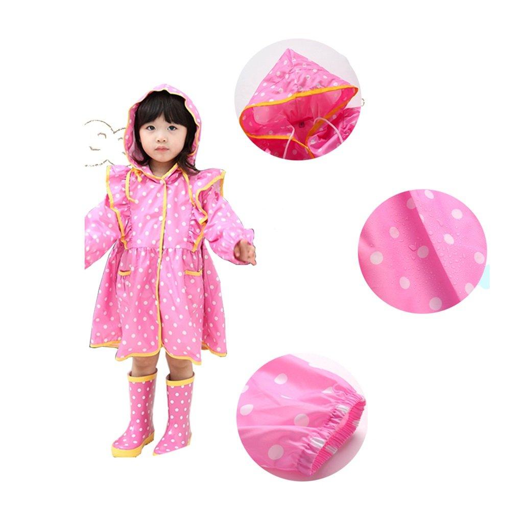 FSYY Impermeable Poncho para niños niños niños Impermeable Impermeable para niñas Turismo al Aire Libre Transpirable y Ligero Rosa Amarillo Ambientalmente Impermeable (Color : A, Tamaño : S) b53454