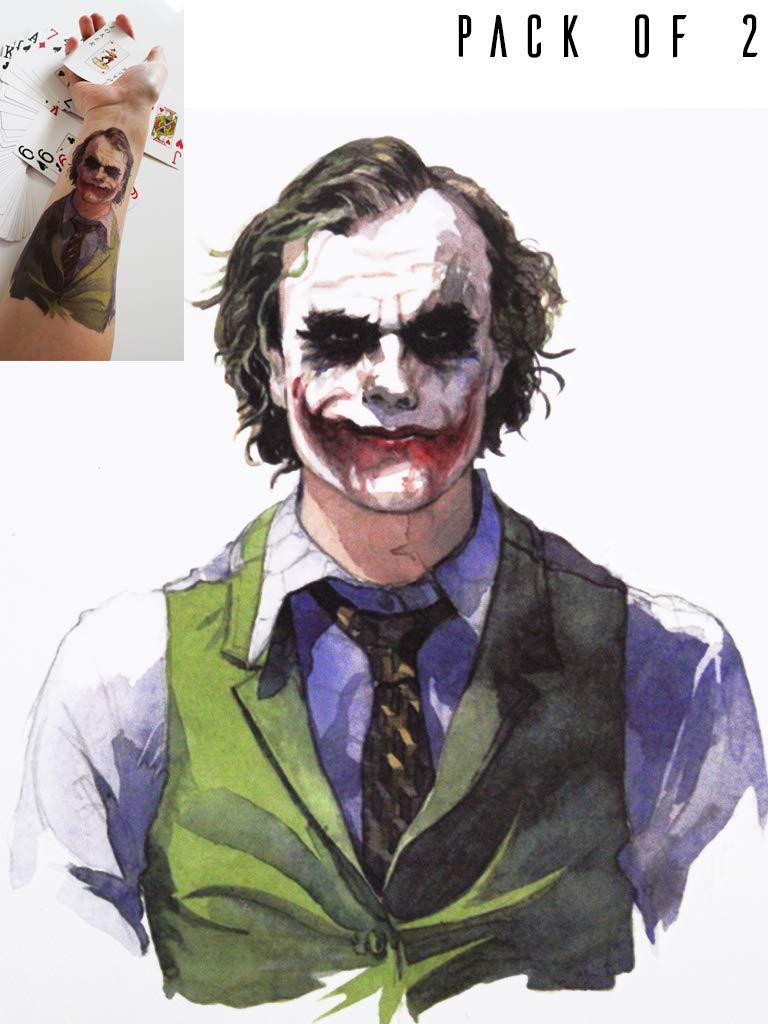 Amazon.com  Novu Ink Joker Temporary Fake Tattoo Artist