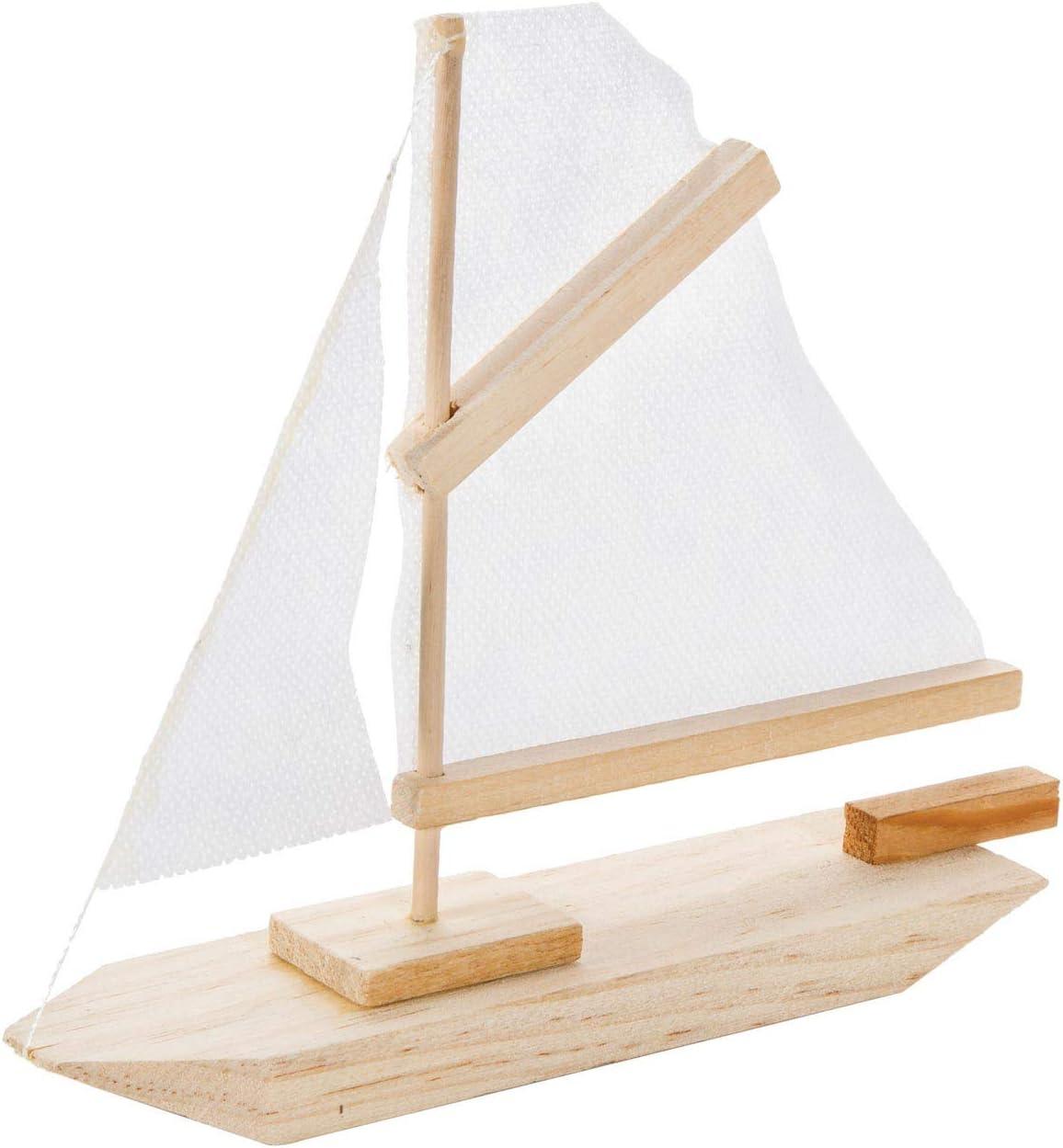 Darice 9169-04 Wood Sailboat Model Kit