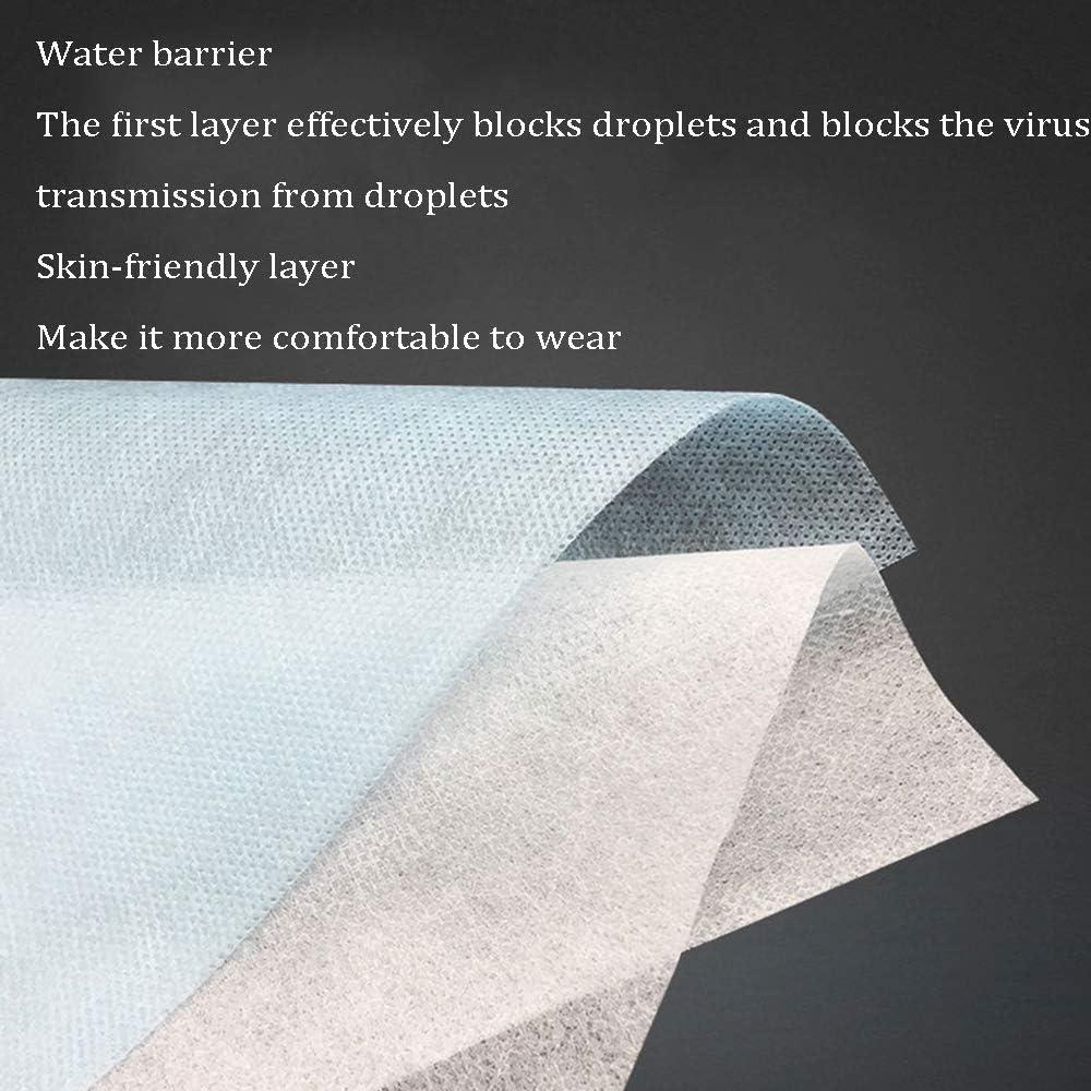 os de pont de nez y compris le cordon doreille /élastique Ensemble de mat/ériaux non tiss/és imperm/éables jetables bricolage fait /à la main trois couches respirantes et respectueuses de la peau