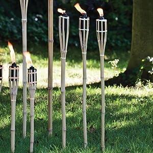 Amazon Com Bamboo Tiki Style Torches Set Of 12 48