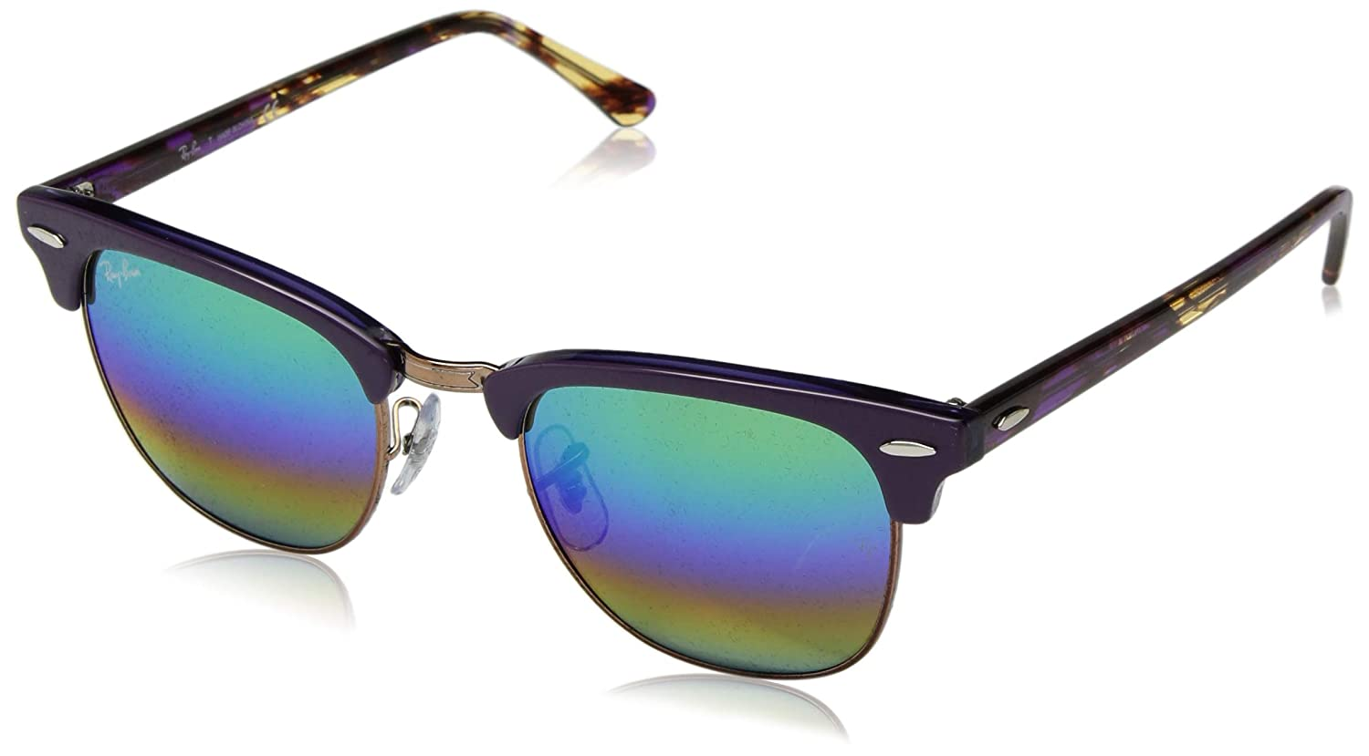3ebf7de6caf1e Amazon.com  Ray-Ban RB3016 Classic Clubmaster Sunglasses  Clothing