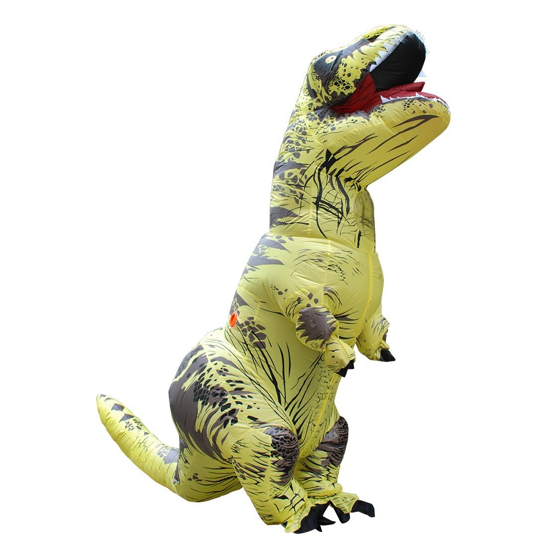 Yellow Polyester Inflatable Dinosaur Costumes Fancy Dress With Pump Carnival by Crystalbella Inflatable Cos